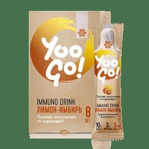 Напиток Immuno Drink (Защита иммунитета) «Лимон-имбирь» — Yoo Gо