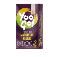Батончик Yummy (марципан-кешью) - Yoo Gо