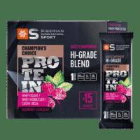 Мультикомпонентный протеин премиум-класса Малина и шоколад - Siberian Super Natural Sport